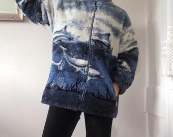 Dolphin print jacket