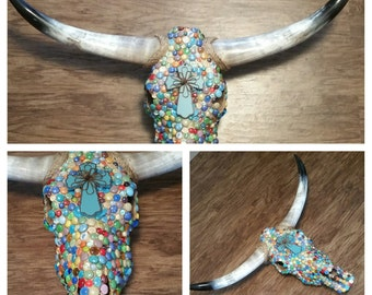 Handcrafted authentic longhorn skull