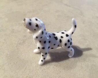 Dalmation Puppy Dog Bone China Bug House Vintage Miniature
