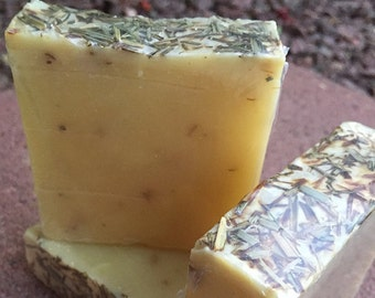 Handmade Cold Process All Natural Lemongrass Herbal Soap