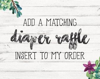 Matching Diaper Raffle ticket insert