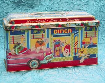 Vintage Tin - M&M's Diner Scene Limited Edition Christmas Village Series, Number 04