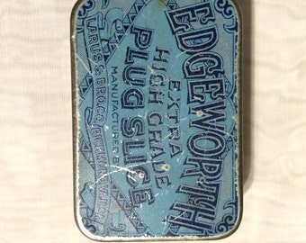 Antique Edgeworth Plug Slice Tin - Free Shipping!