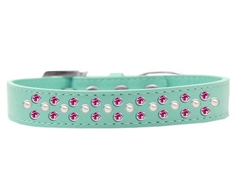 Sprinkles Pearl dog collar with rhinestones
