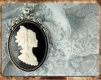 Fairy necklace amulet pendant cameo