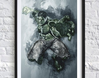 Avengers - The Hulk 'Watercolor' A4 Print