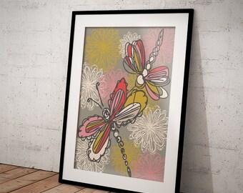 The Dragonfly Waltz art print