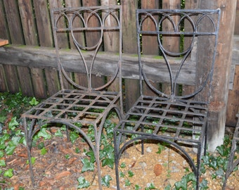 Bespoke Wrought Iron Garden Chairs