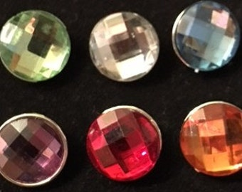 Set of New Interchangeable Colored Sparkling Snaps 20mm - Fits all 18mm and 20mm Snap Jewelry