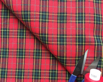 Red Tartan Cotton Fabric