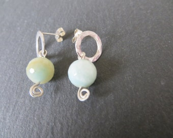 Silver and Amazonite earrings