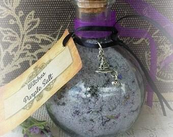 Witches Purple Salt, Ritual Salt, Purification Salt, Witchcraft Supplies, Spiritual Protection, Relaxation Salt, Wicca, Witchcraft