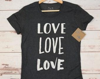 Love Love Love Women's T-Shirt, Tank, Hoodie, Mother's Day Gift, Teenage Girl T-Shirt, Birthday Gift, Womens Clothing, Tshirt, Graphic Tee