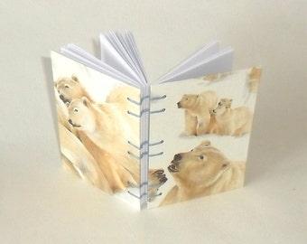 Note book A7 polar bear / / Blankobuch / / notes / / memories / / gift