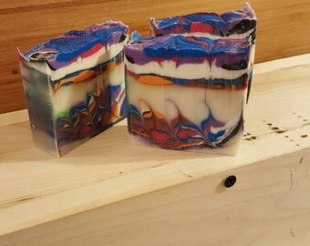 Rainbow Kisses, Homemade Soap, Cold Process Soap, Artisan Soap