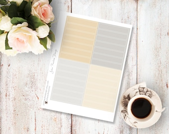 Planner Stickers for the vertical Erin Condren Life Planner - Blanc headers in neutral