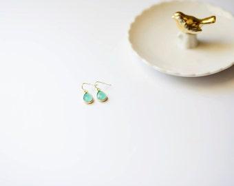 Mint Glass Drop Earring