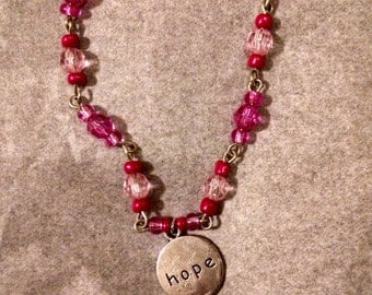 Pink Hope Charmed Breast Cancer Awareness Bracelet