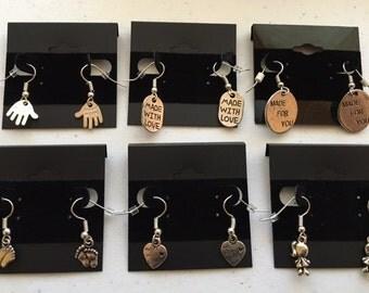 Sweet Sayings Theme Earrings