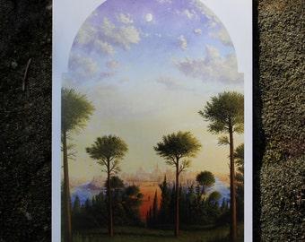 Blank fine art greeting card 'The Legend'