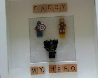 Personalised handmade my hero frame