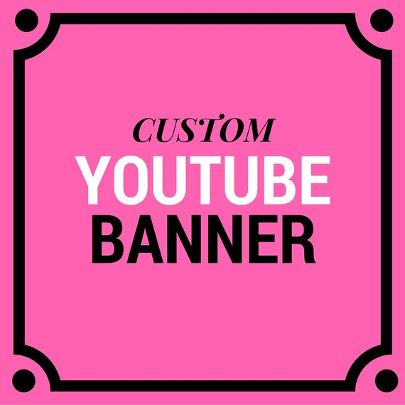 Custom Youtube Channel Design: CUSTOM Youtube Banner Youtbe Header Youtube Cover