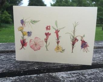 Faith Card, Watercolour