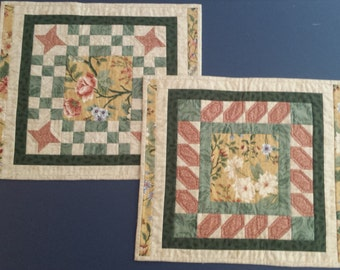 Quilted Placemats, Green With Envy, Set of Two