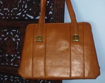 Vintage Brown Patent Handbag