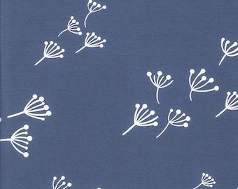Cotton Jersey Interlock Kenny dandelions jeans blue childrens clothing sold by the meter Kunterbunter 1 meter