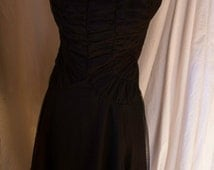 Womans Small Gothic Black Dance Dress