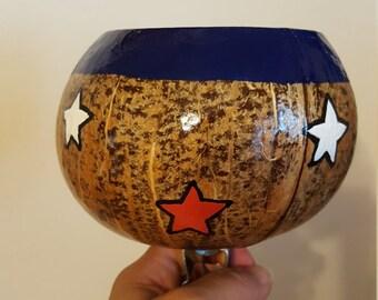 Coconut Cup Holder For Bike - Patriotic