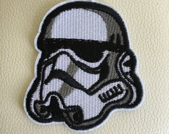 STAR WARS stormtrooper sew/iron on embroidered patch