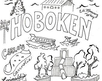 Custom Hoboken Coloring Page