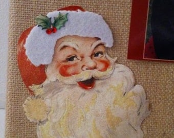 Burlap Canvas Wall Art - Christmas