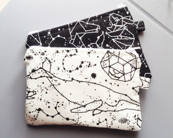 constellation cute coin purse, zipper pouch, purse, change Purse, coin couch, money wallet.