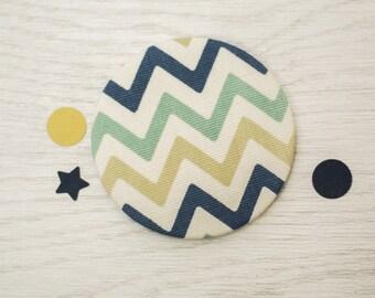 Pocket Mirror - fabric pocket mirror - hand bag mirror - gift for her - token gift - stocking filler - bridesmaid gift