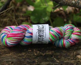 Jazzercise - Hand Dyed SW Wool Yarn - Worsted Weight