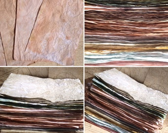 Paper,Craft paper, scrapbooking paper, Journal pages, dyed paper, junk journal, Tea stained paper, hand dyed paper, wedding stationary,