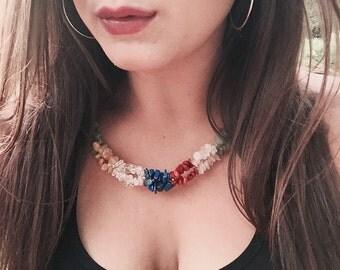 Crystal Chakra Twist Necklace