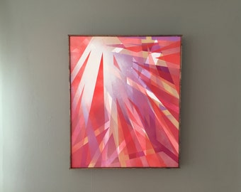 Angles No.3 (Red, Purple, and Tan)