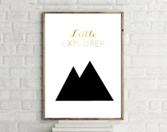 Little Explorer Print // Kid's Wall Art // Kids Minimalist Poster // Boy Girl Poster // Childrens Poster // Kids Typography // Kids Room