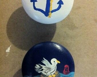 custom painted drawer knobs