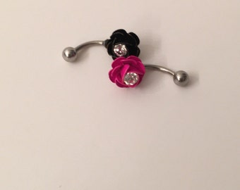 Floral belly-button rings
