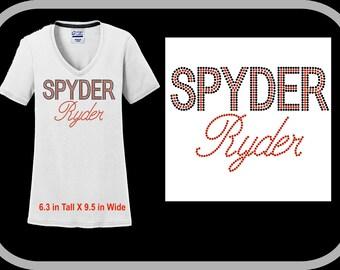 NEW Colors V Neck Spyder Ryder Script Shirt