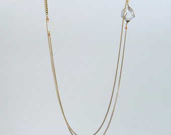 Necklace chain Bangle gold transparent cube