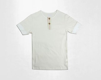 Organic Cotton Henley Tee