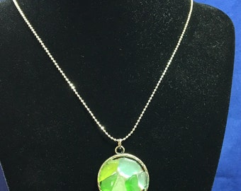 Beach Glass Necklace (N0603)