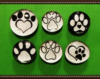 Pet Love Glass Gem set of 6