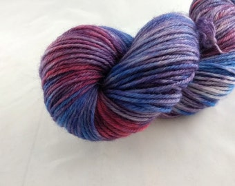 Yarn - One Of A Kind #6 -100% Wool - Hand Dyed - Knit - Crochet - Worsted Weight
